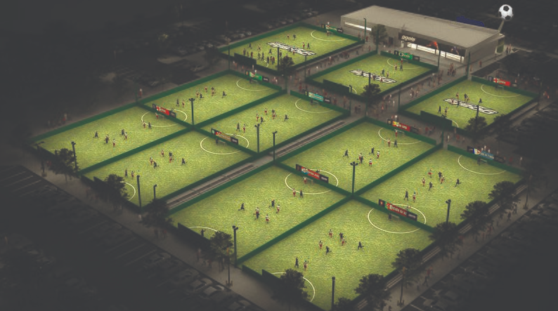soccer fields for play